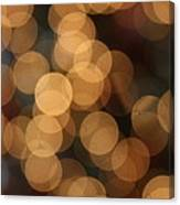 Golden Orbs Canvas Print