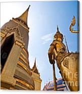Golden Pagoda And Monster Canvas Print