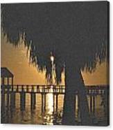 Golden Pier Canvas Print