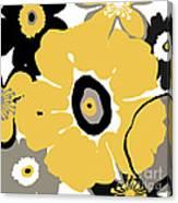 Golden Pop Flower Canvas Print