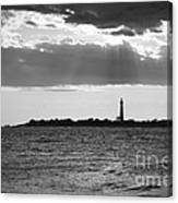 Golden Rays At Cape May Bw Canvas Print