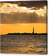 Golden Rays At Cape May Canvas Print