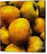 Golden Renaissance Apples Canvas Print