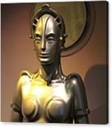 Golden Robot Lady Canvas Print