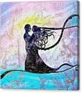 Golden Romance Canvas Print