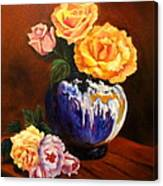 Golden Roses Jenny Lee Discount Canvas Print