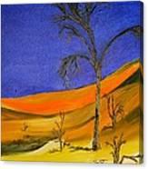 Golden Sand Dune Left Panel Canvas Print