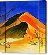 Golden Sand Dune_triptych Canvas Print
