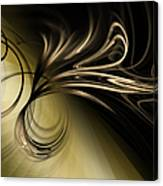 Golden Scroll Canvas Print
