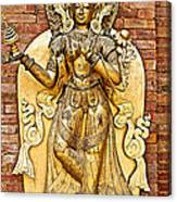 Golden Sculpture In A Hindu Temple In Patan Durbar Square In Lalitpur-nepal Canvas Print