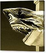 Golden Shark In Ocean City Canvas Print