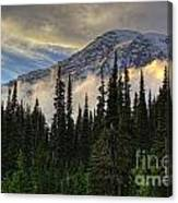 Golden Shawl On The Mountain Canvas Print