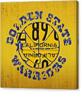 Golden State Warriors Basketball Team Retro Logo Vintage Recycled California License Plate Art Canvas Print