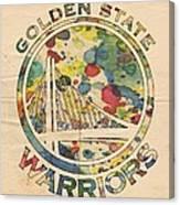 Golden State Warriors Logo Art Canvas Print
