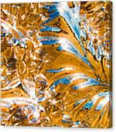 Golden Steel Swirl Canvas Print