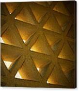 Golden Stonework  Canvas Print