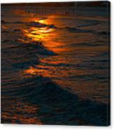 Golden Sun Set Canvas Print