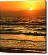 Golden Sun Up Reflection Canvas Print