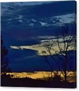 Golden Sunrise Into The Blue Canvas Print