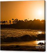 Golden Sunset At Laguna Canvas Print