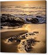 Golden Sunset At The Beach Canvas Print
