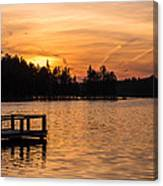 Golden Sunset Lake Horicon Lakehurst Nj Canvas Print