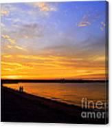 Golden Sunset On The Harbor Canvas Print