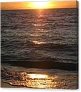 Golden Sunset At Destin Beach Canvas Print