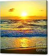 Golden Surprise Sunrise Canvas Print