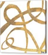 Golden Swirls Square II Canvas Print