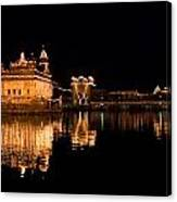 Golden Temple Reflected In Water Canvas Print