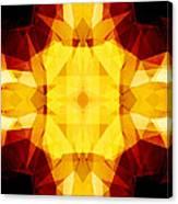 Golden Textured Triangles Canvas Print