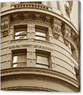 Golden Vintage Building Canvas Print