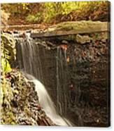 Golden Waterfall October In Ohio Canvas Print