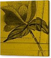 Golden Wood Flower Canvas Print