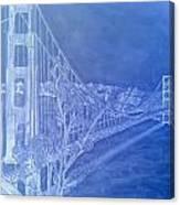 Golder Gate Bridge Inverted Canvas Print