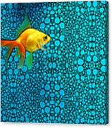 Goldfish Study 3 - Stone Rock'd Art By Sharon Cummings Canvas Print