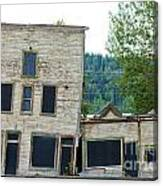 Goldrush Heritage Buildings In Dawson City Yukon Canvas Print