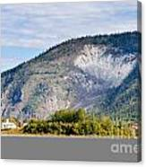 Goldrush Town Dawson City From Yukon River Canada Canvas Print