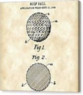 Golf Ball Patent 1906 - Parchment Canvas Print
