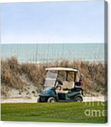 Golf Cart At Kiawah Island Golf Course Canvas Print