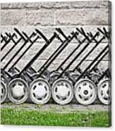 Golf Carts Canvas Print