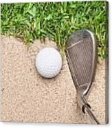 Golf Club And Ball Canvas Print