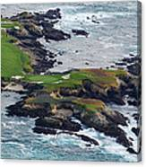 Golf Course On An Island, Pebble Beach Canvas Print