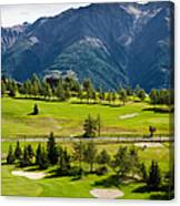 Golf Course Riederalp Valais Swiss Alps Switzerland Canvas Print