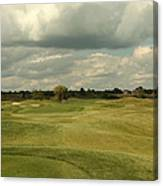 Golf Course With Clouds Canvas Print