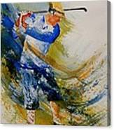 Golf Player Canvas Print
