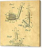 Golf Sand Wedge Patent On Aged Paper Canvas Print