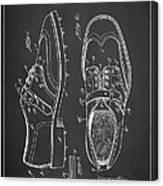 Golf Shoe Patent Drawing From 1927 Canvas Print