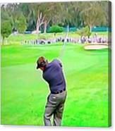 Golf Swing Drive Canvas Print